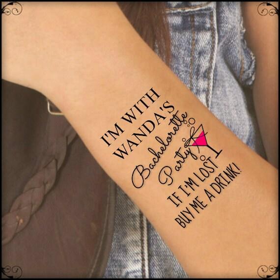 c89b5becf3a76 Fake Tattoo On Tumblr Inner Wrist Temporary Tattoo Tumblr: Items Similar To Temporary  Tattoo 7 Bachelorette Party