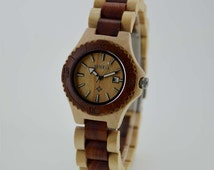 10% off Black Friday,Women Wood watch,Environmental Protection wooden material Japan Quartz Watch Special Gift for your girl friend or wife