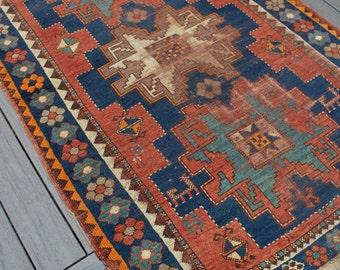 "4'1""x5'5"" Vintage Turkish Konya Rug"