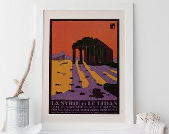 Lebanon Travel Poster - Syria Travel Poster - Frame-Ready Art Print fits Ikea Ribba