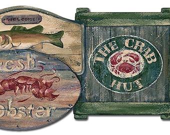 Men'S Room Fresh Lobster PB58040DB Wallpaper Border