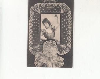 C1905 Undivided Back Antique Postcard-Types Of Lace-Le Dentelles-Vallencienne