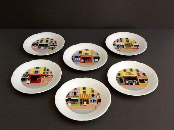 Limoges French Country Porcelain Plates Set Of 6 Philippe