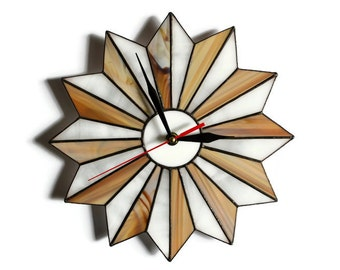 rustic clock rustic decor rustic home decor starburst clock wood brown farmhouse decor