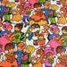 Vintage Christmas Wrapping Paper - Mod Children and Snowmen  - 36 x 18