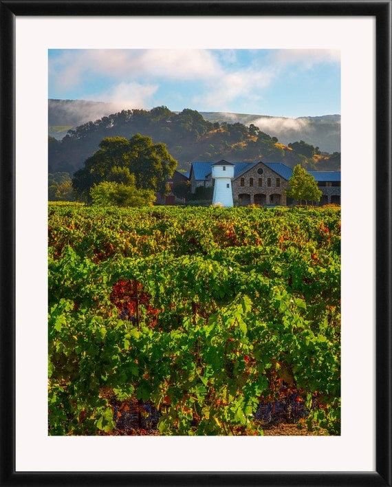 Wine country print napa valley winery photo by for Napa valley home decor