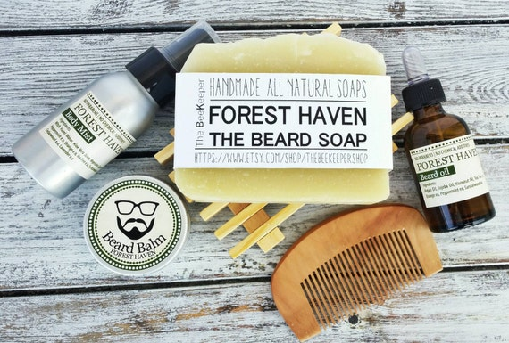 beard kit beard grooming kit beard soap beard by thebeekeepershop. Black Bedroom Furniture Sets. Home Design Ideas