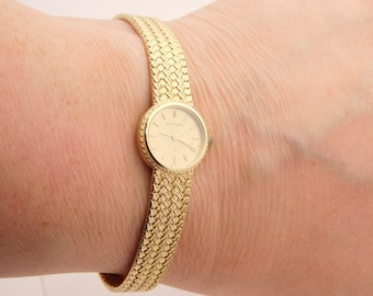 Ladies Bucherer Wrist Watch 14 Yellow Gold