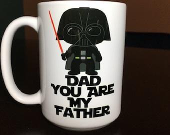 "Darth Vader ""Dad You are My Father"" Coffee Mug"