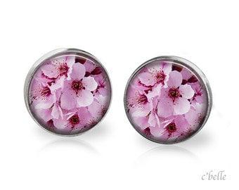 Earrings flowers - cherry blossom 14