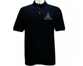 UK Secret Intelligence Service MI6 MI 5 retro emblem polo style collared t-shirt
