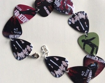 Green Day plectrum necklace/ bracelet