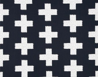 Contoured Changing Pad Cover- Crosses  / Navy Changing Pad Cover / Modern Nursery Changing Pad Cover
