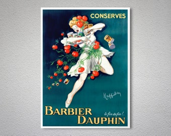 Barbier Dauphin Conserve - Food & Drink Poster  - Poster Print, Sticker or Canvas Print