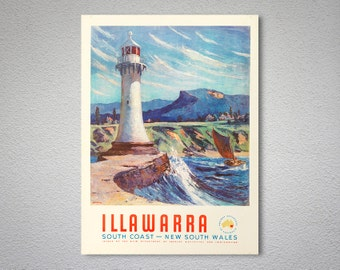 Illawarra South Coast, New South Wales, Australia Travel Poster - Poster Print, Sticker or Canvas Print