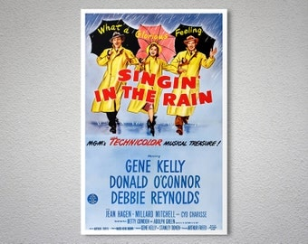 Singing in the Rain - Gene Kelly, Debbie Reynolds - Poster Print, Sticker or Canvas Print