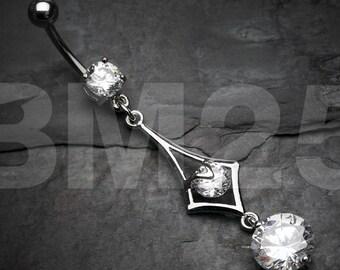 Sparkle Diamante Belly Button Ring