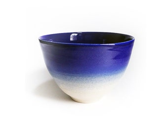 """Bowl """"Calypso"""" blue night stoneware - hand made in my workshop - ready to ship"""