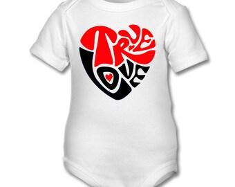 True Love cute Baby onesie,babygrow