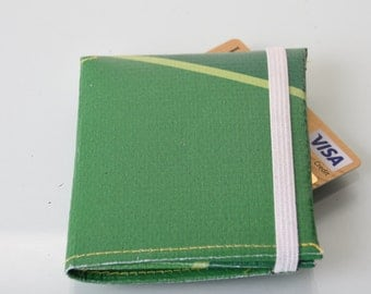 Green Trifold Wallet repurposed  from london 2012 Olympic banner