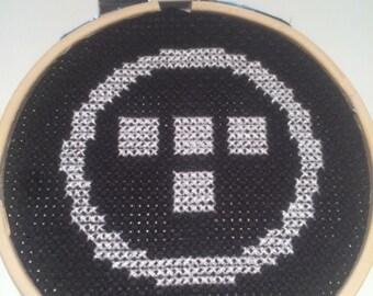 Tron inspired cross stitch