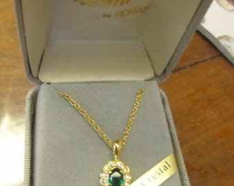 Austrian Crystal Melini Necklace by Roman/Never Worn