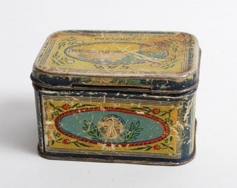 Antique Tin Metal Box, Case, Georgian tea (CI577)