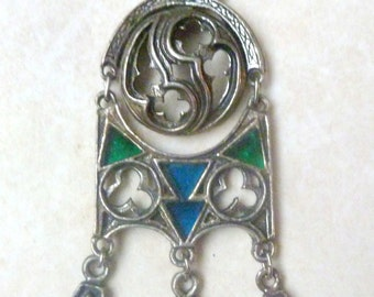 Vintage Large Medieval Gothic Style Necklace By Miracle.