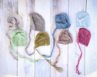 PICK 1 Baby Bonnet - Newborn Baby Bonnet, Baby Newborn Photographer Prop - Baby Bonnet, Dainty Bonnet, Baby Photo Prop - Photo Accessory