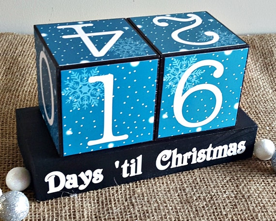 Countdown To Christmas Blocks Days Til By TimelessNotion