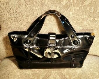 Black Patent Leather Purse by Maxx New York  Signature XX
