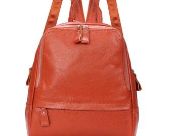 Genuine leather backpack, work bags, leather bags, travel bags
