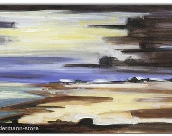 Original acrylic on canvas: Amrum squall line / 25 x 50 cm