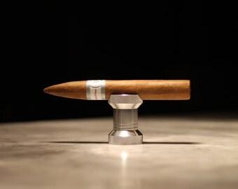 Cigar Rest and Bottle Opener - Silver