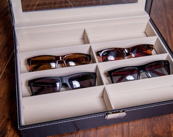 Sunglass Case, Sunglass Box, Glasses Case, Eye Glasses Box, Jewelry Organizer & Storage, Man or Woman Sunglasses Display, Mothers Day