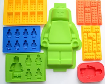 7 molds a set Lego block silicone mold set-- ice grid blocks mold Cake Mold Handmade Chocolate Mould Ice tray cube pudding mould handmade