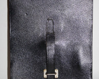 Vintage Across Body Small Report Bag Messenger Black Fashion Thick Leather