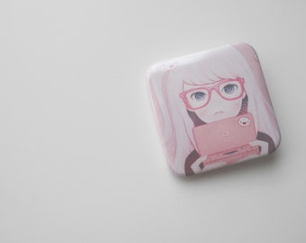 Square Gamegirl Girl badge