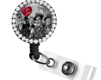 Bling ID Badge Reel/ I Love Lucy/lucille ball
