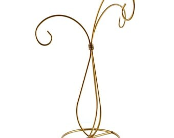 10.5 Gold Painted 3 Arm Christmas Ornament Stand