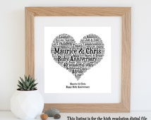 ... - 40th Wedding Anniversary Gift - Personalised Gifts - Unique Gift