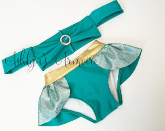 Princess Jasmine inspired swimsuit bikini - Made to Order