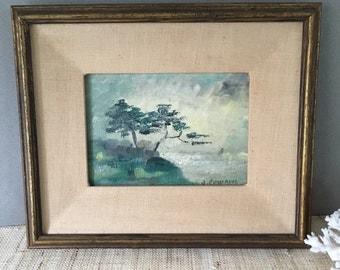 Vintage Monterey oil painting | California oil painting | seascape painting | vintage oil painting | oil painting
