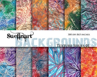 12 Background Textures - Instant Download - 8 x 5 inches at 300 DPI