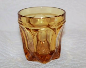 G1 Fairfield Amber Old Fashioned Glass by Anchor Hocking Discontinued 1972 - 1977