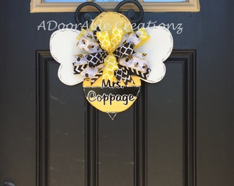 Bumble Bee Door Hanger Teacher Summer Appreciation Gift