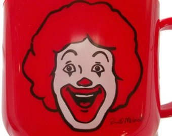 Rare Vintage Ronald McDonald Cup, Collectible
