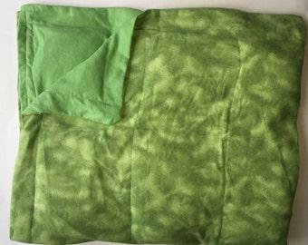 Sensory Weighted Blanket Green Tye-Dye Natural Dried Corn Fill 6 LBS