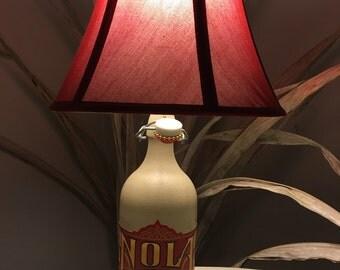 Recycled ceramic bottle NOLA lamp.