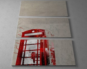 Who Art Now 'Phone Booth Magazine Clippings' Gallery Wrapped Canvas Triptych Print